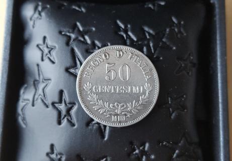 50 centesimi 1963 argent Italie 1