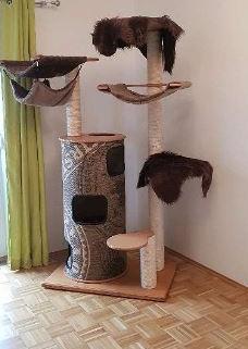 Arbre à chat en bois très stable 3