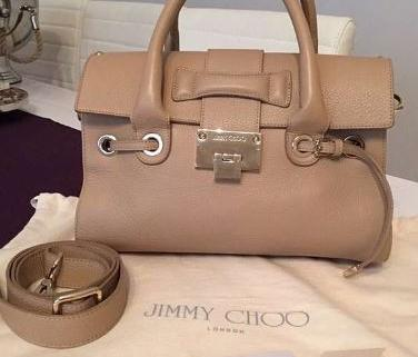 JIMMY CHOO sac à main beige 1