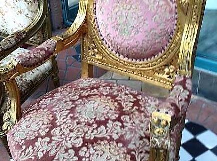 Fauteuil baroque 1