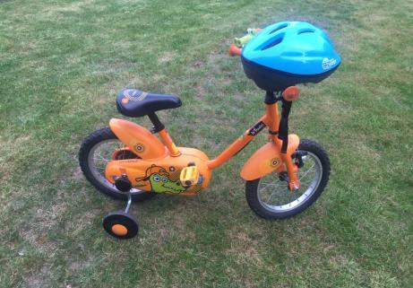 Vélo enfant Decathlon B'twin 14' Crocodile + casque 3