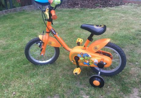 Vélo enfant Decathlon B'twin 14' Crocodile + casque 2