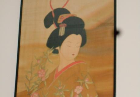 tableau peinture sur soie 1