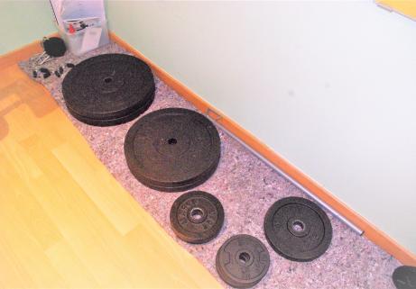 Set de disques de musculation en fonte Marcy 85 kg 1