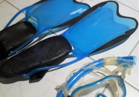 Kit de snorkeling palmes masque tuba Tribord R'gomoove taille 42/43 3