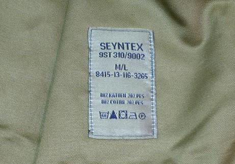 Veste militaire armée Belge ABL Seyntex taille M L NEUVE 2