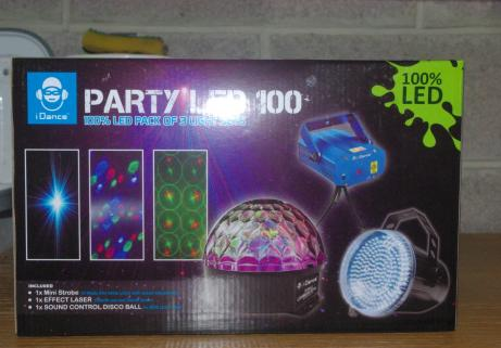 stroboscope , laser, boule à facette, Party Led 100 3