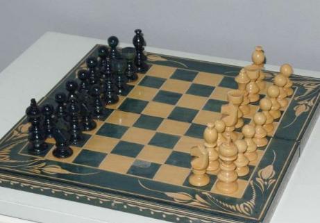 Jeux d'échec fabriqué à la main 5