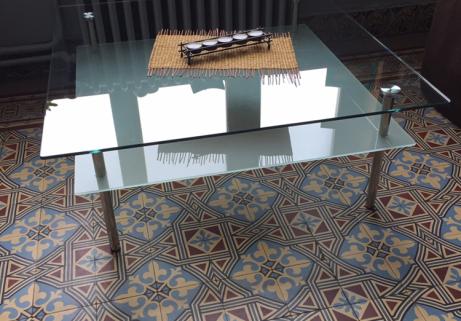Table basse en verre 1