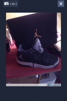 Basket Jordan et avec boîte et ticket