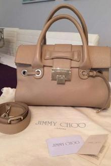 JIMMY CHOO sac à main beige