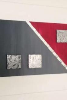 Peinture acrylique 50cm x 100cm