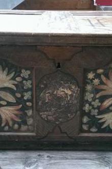 Coffre avec motif de chasse, XVIIe siècle