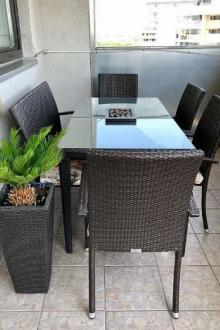 Set table et chaises en rotin