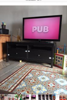 Meuble télé bois noir